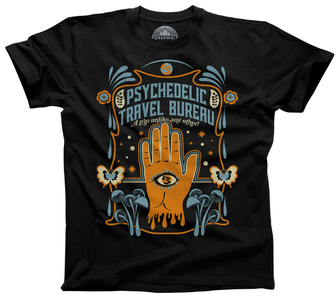 Men's Psychedelic Travel Bureau T-Shirt