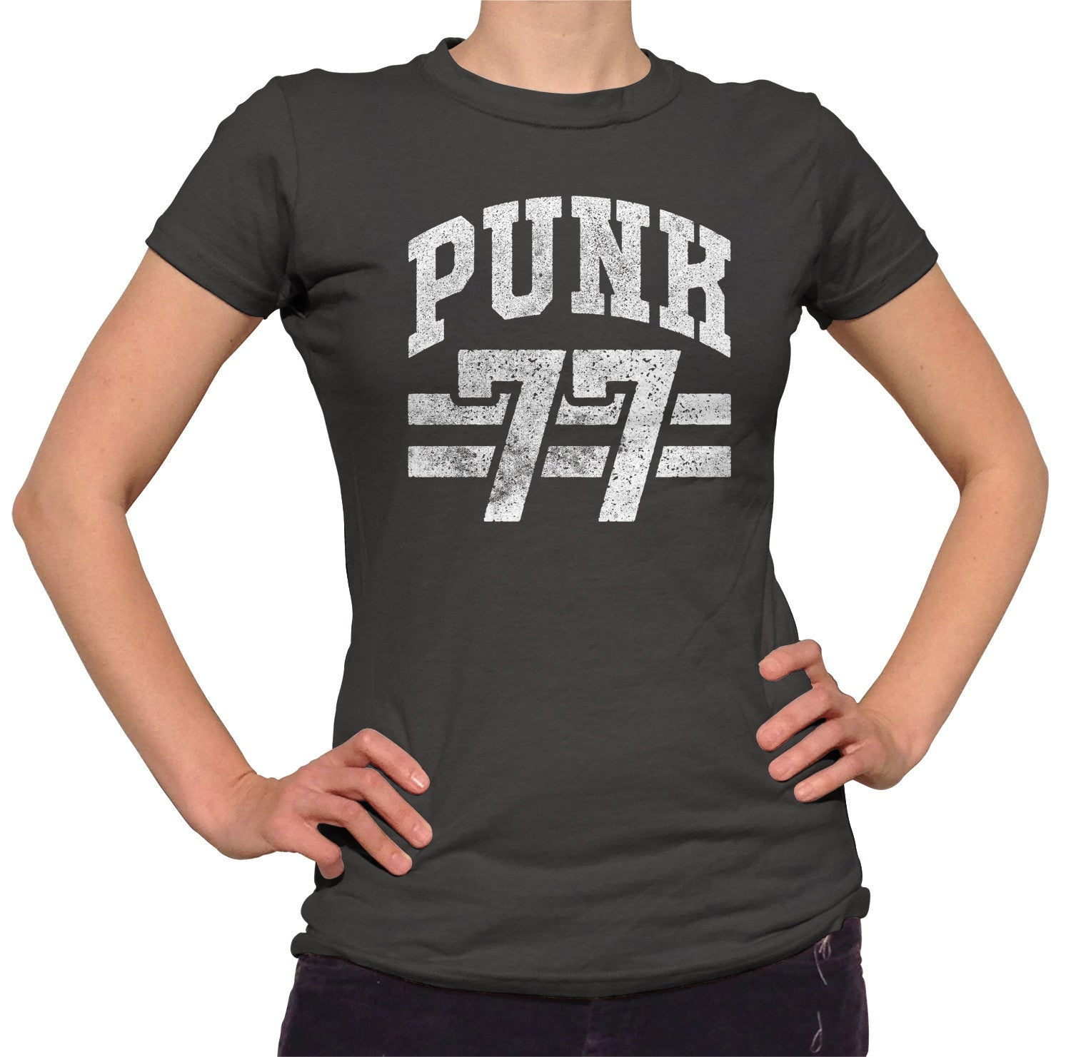 Women's Punk 77 T-Shirt - Alternative Music Punk Rock Grunge