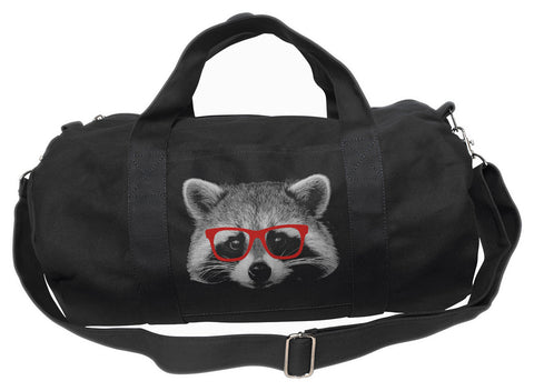 Raccoon With Glasses Duffel Bag