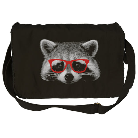 Raccoon With Glasses Messenger Bag