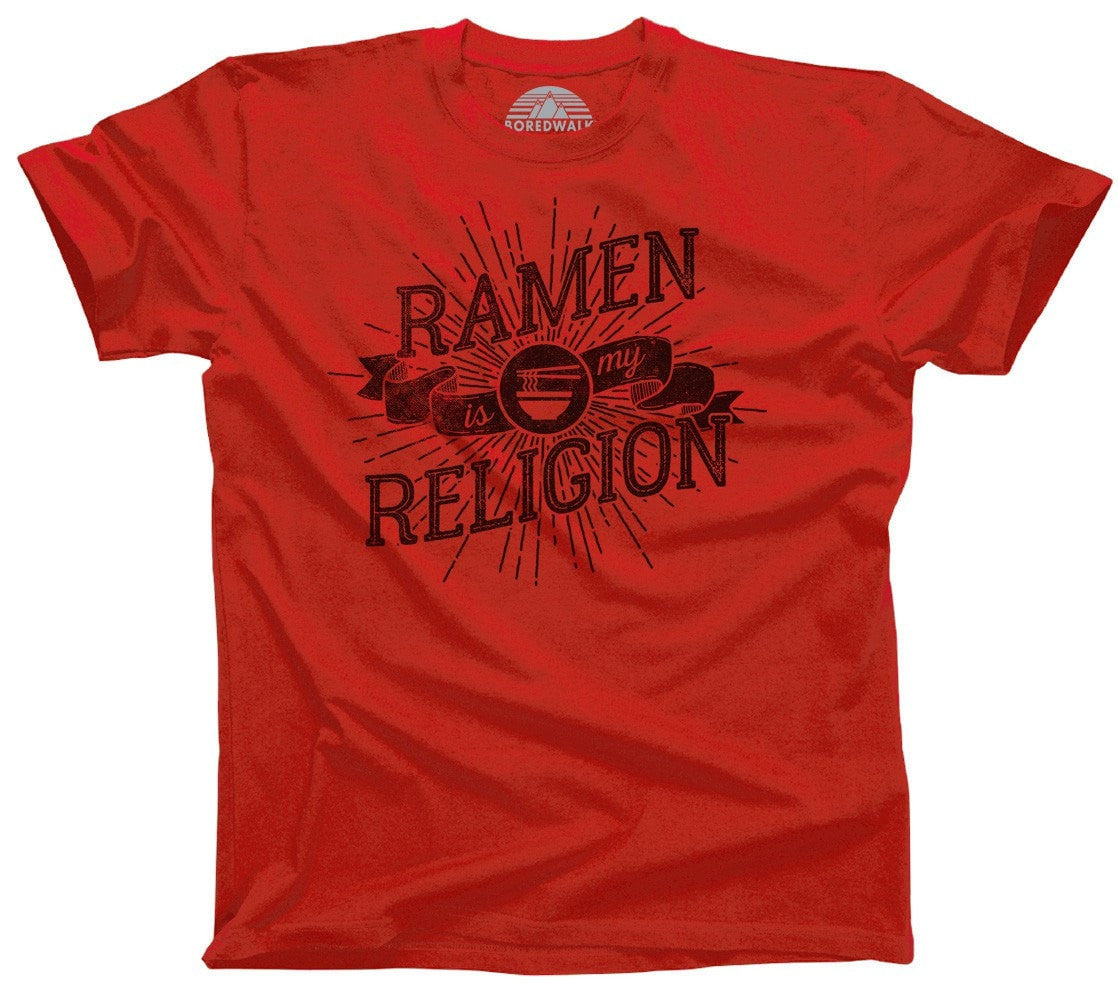 Men's Ramen is My Religion T-Shirt Funny Hipster Foodie