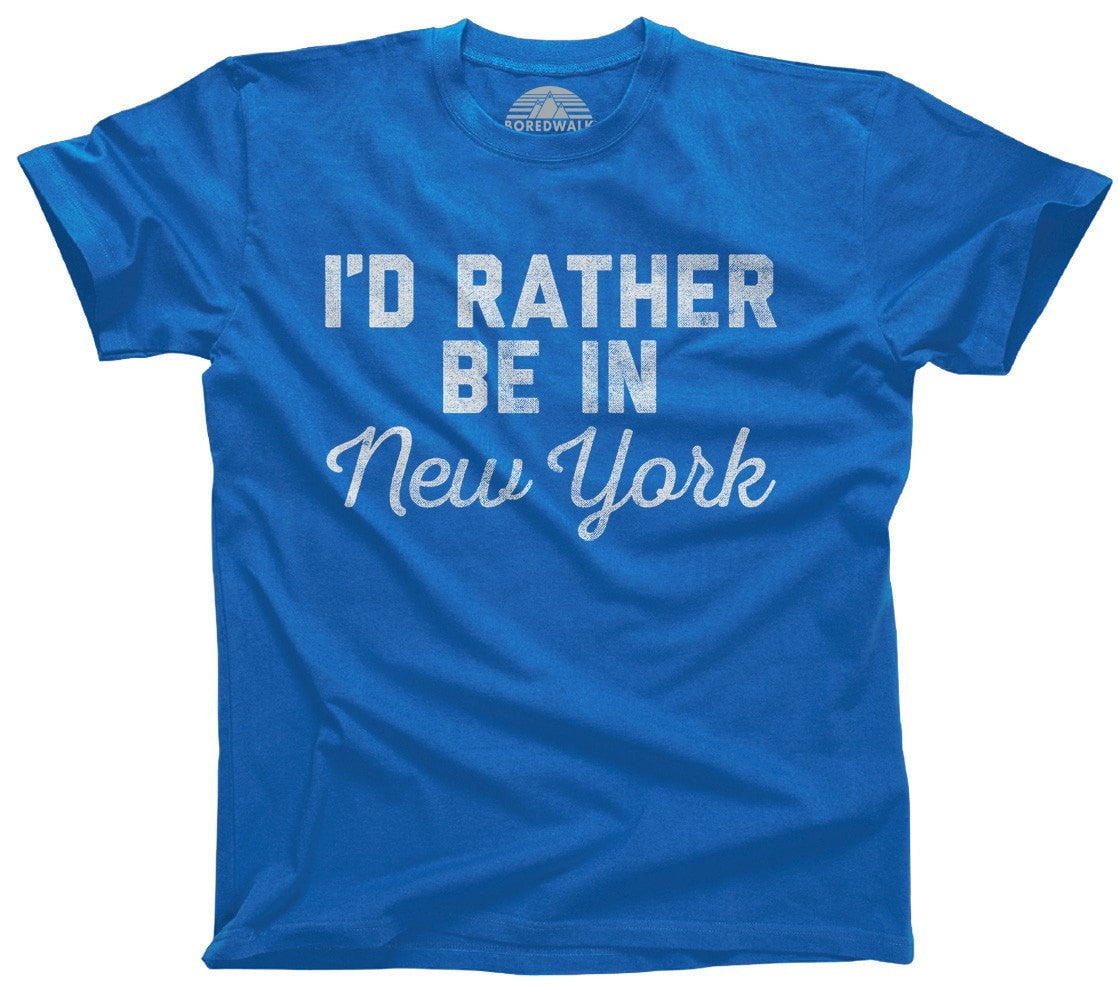 Men's I'd Rather Be in New York T-Shirt