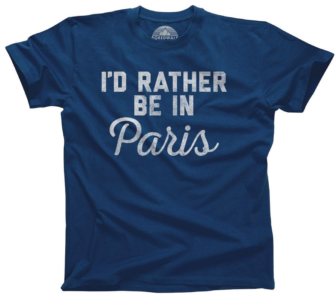 Men's I'd Rather Be in Paris T-Shirt