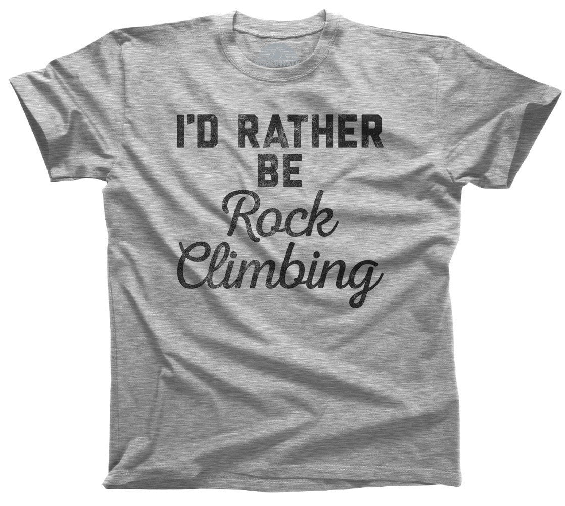 Men's I'd Rather Be Rock Climbing T-Shirt