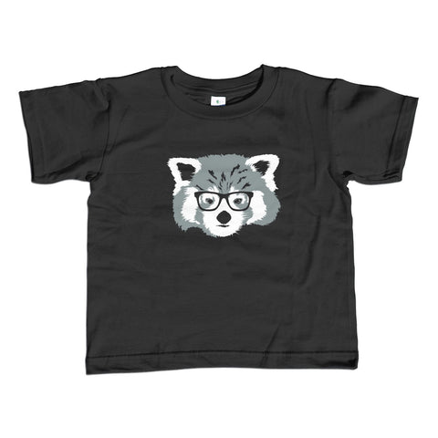 Girl's Hipster Red Panda With Glasses T-Shirt - Unisex Fit