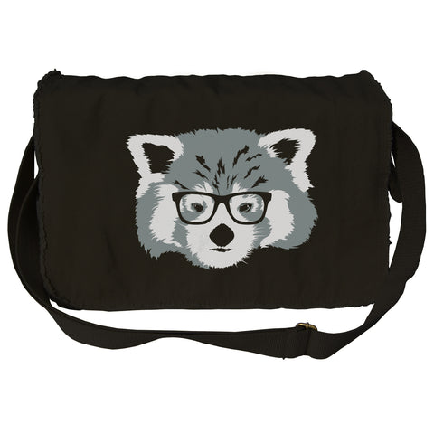 Hipster Red Panda With Glasses Messenger Bag