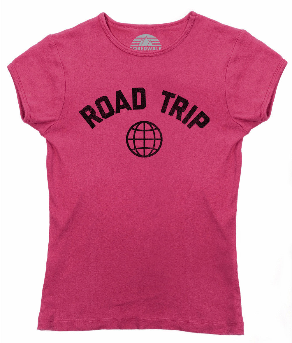 Women's Road Trip T-Shirt Retro Athletic Travel