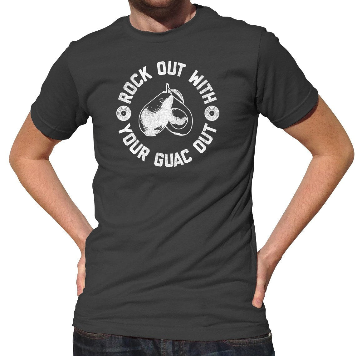 Men's Rock Out With Your Guac Out Guacamole T-Shirt