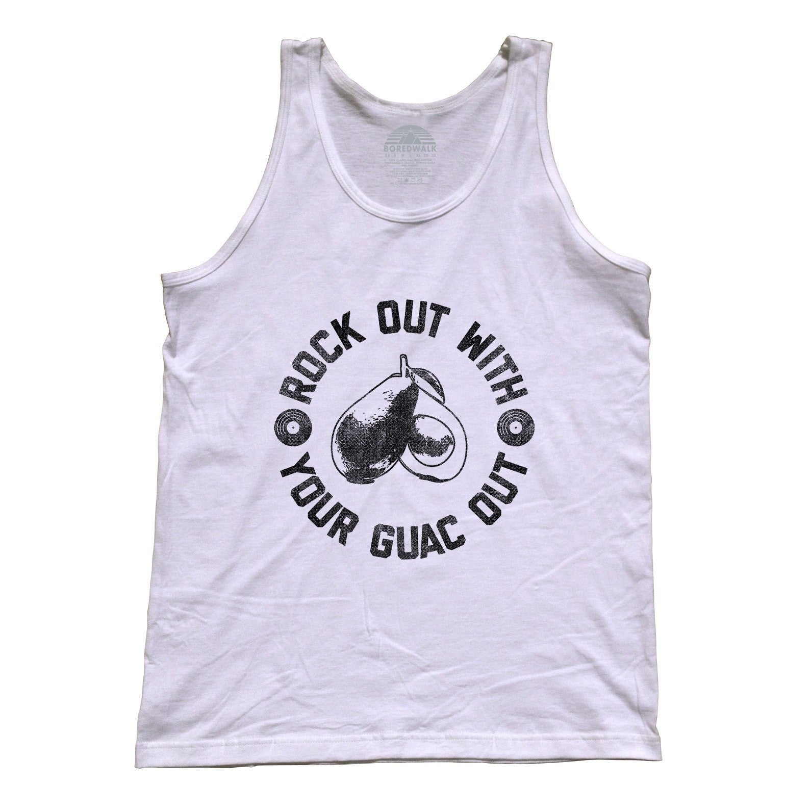 Unisex Rock Out With Your Guac Out Guacamole Tank Top