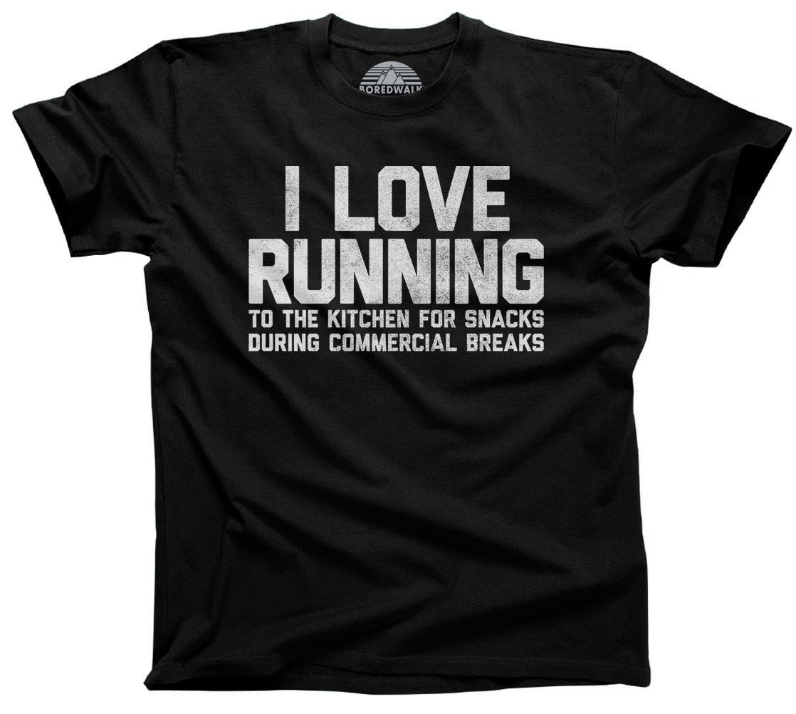 Men's I Love Running to the Kitchen for Snacks T-Shirt