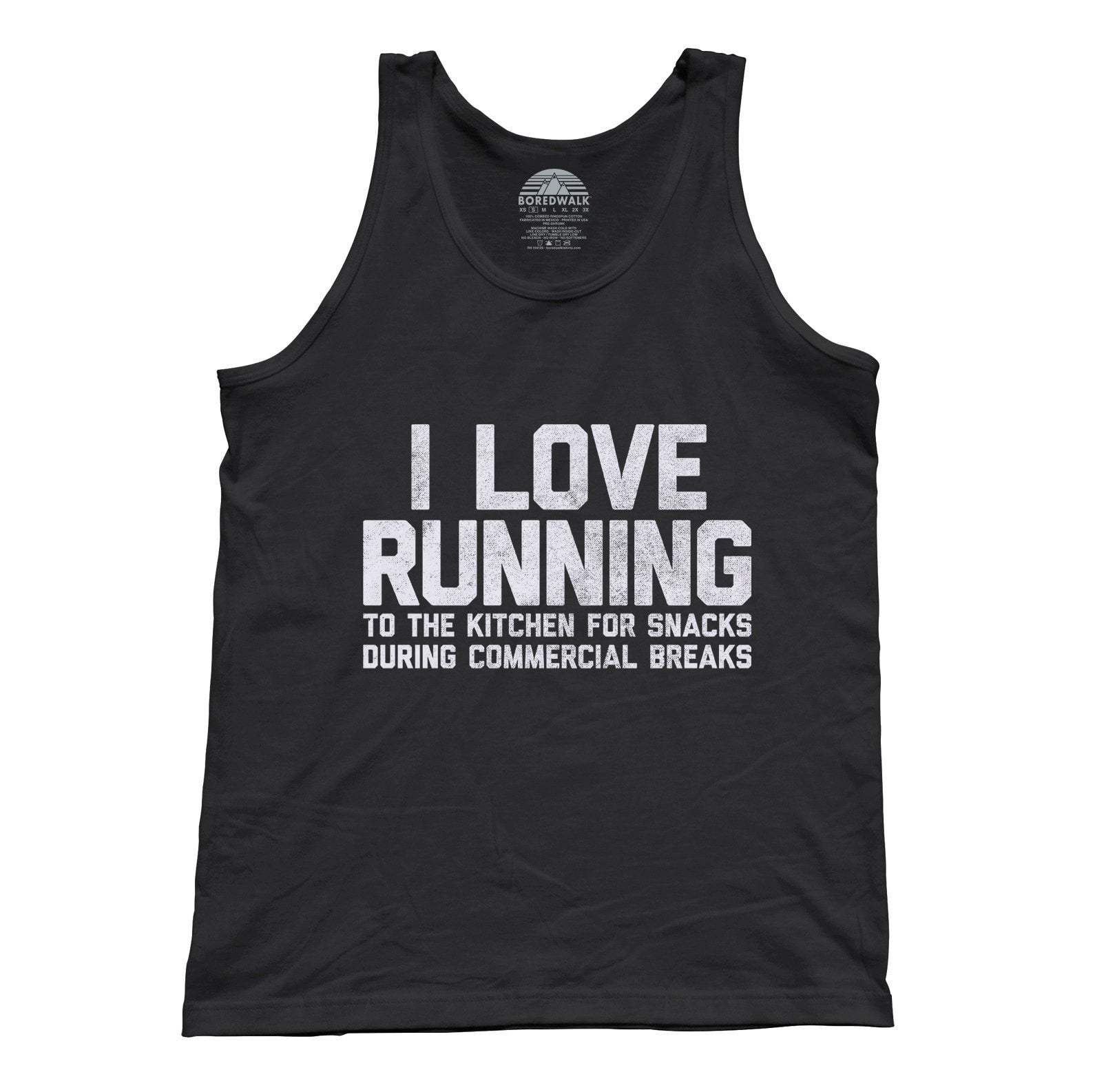 Unisex I Love Running to the Kitchen for Snacks Tank Top