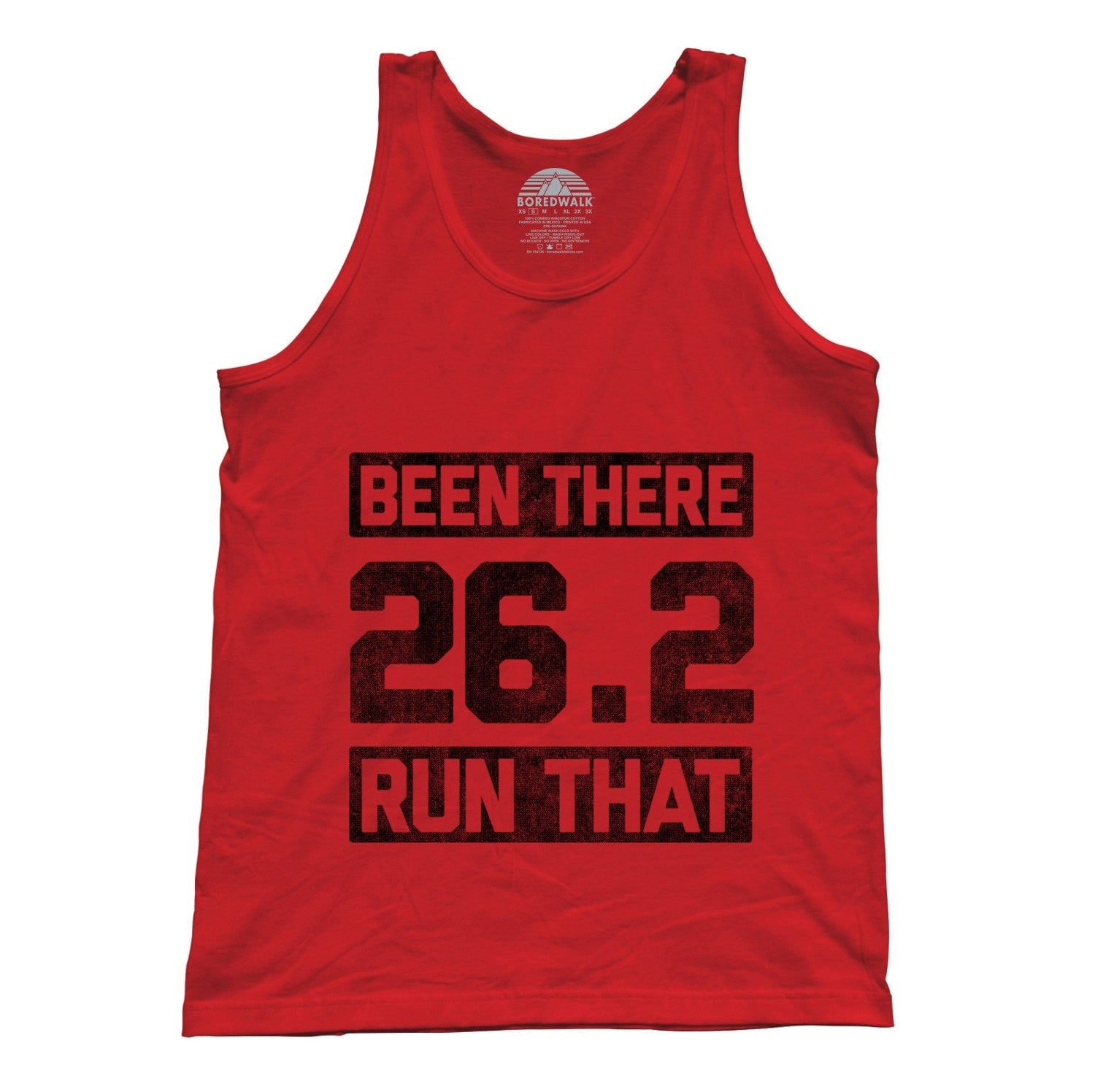Unisex 26.2 Been There Run That Tank Top Marathon Runner