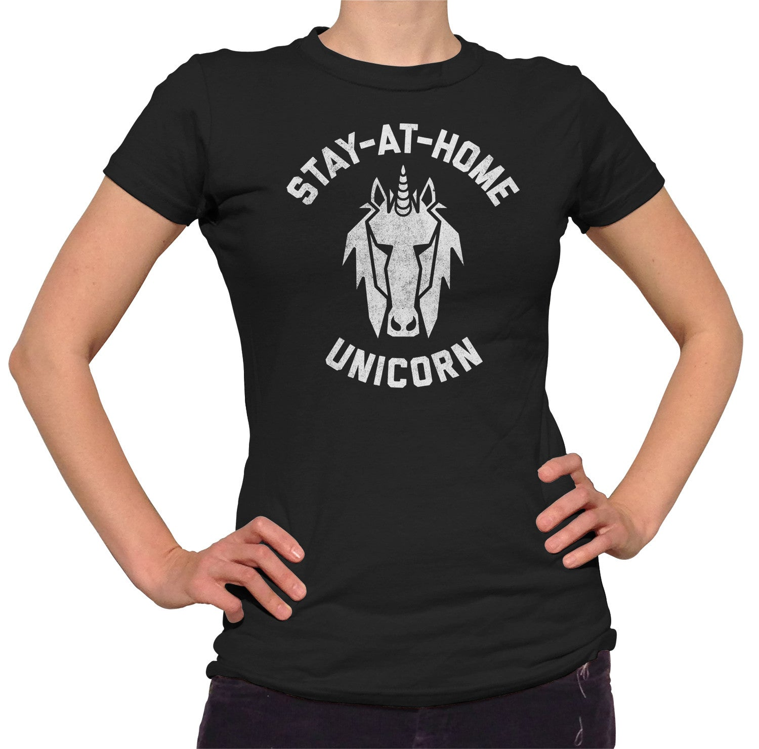 Women's Stay at Home Unicorn T-Shirt