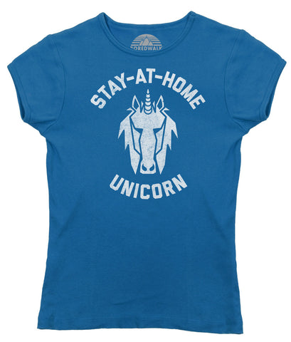 Women's Stay at Home Unicorn T-Shirt - Juniors Fit