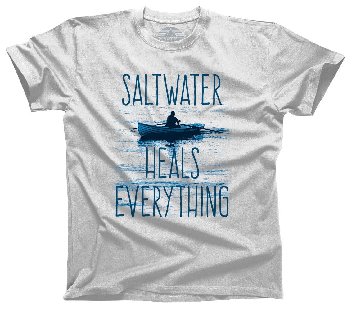 Men's Saltwater Heals Everything T-Shirt Ocean Shirt