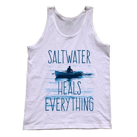 Unisex Saltwater Heals Everything Tank Top Ocean Shirt