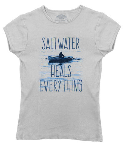 Women's Saltwater Heals Everything T-Shirt Ocean Shirt