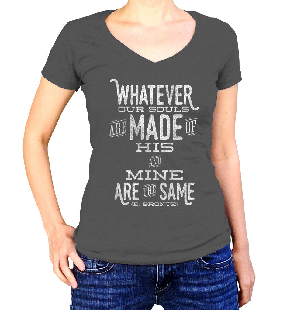 Women's Whatever Our Souls are Made of, His and Mine are the Same Vneck T-Shirt