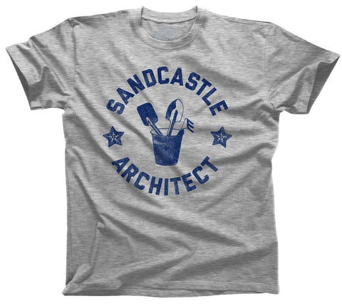 Men's Sandcastle Architect T-Shirt Sand Castle Shirt