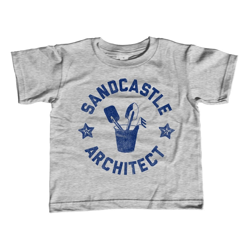 Girl's Sandcastle Architect T-Shirt - Unisex Fit Funny Beach Shirt