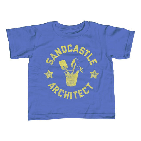 Boy's Sandcastle Architect T-Shirt Funny Beach Shirt