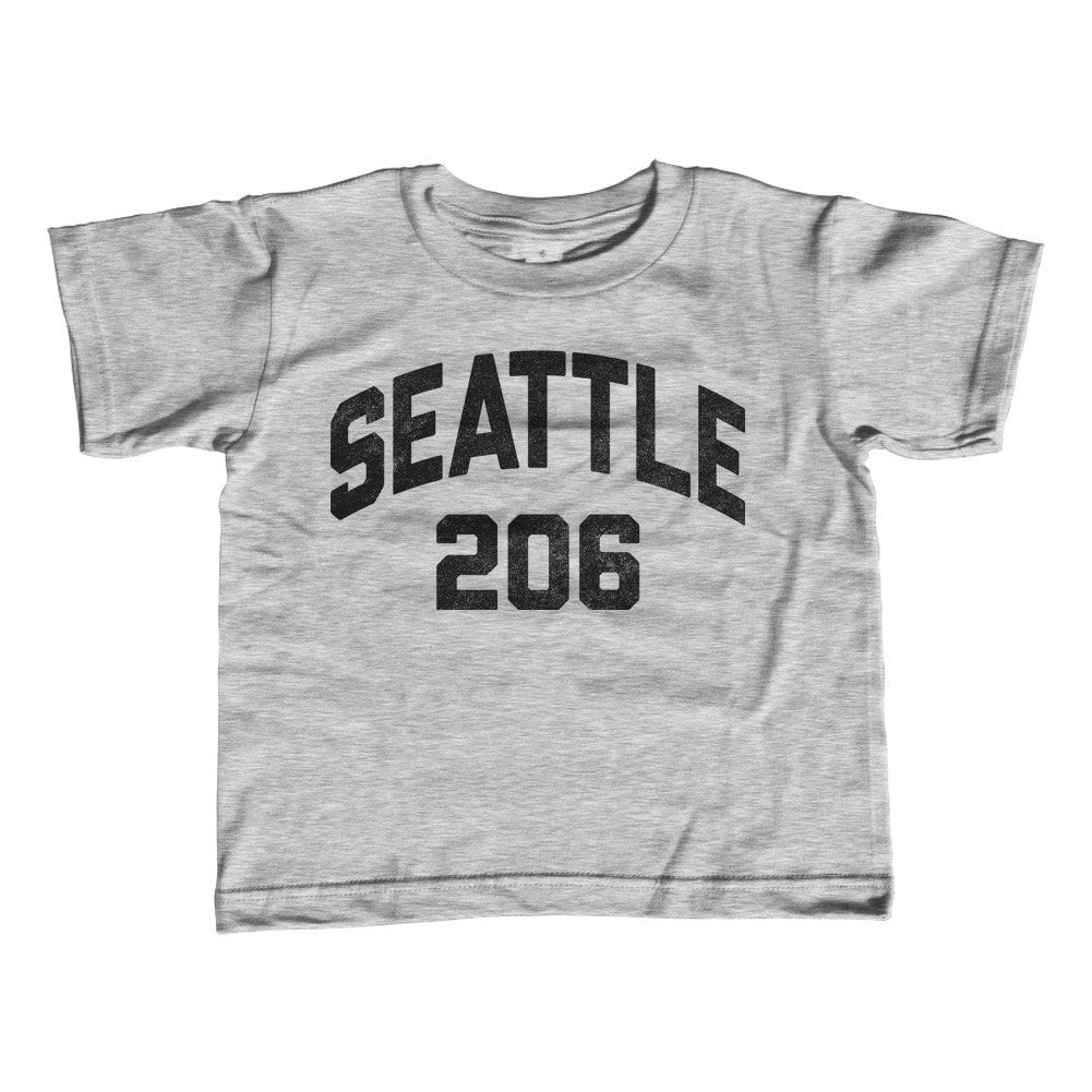 Boy's Seattle 206 Area Code T-Shirt