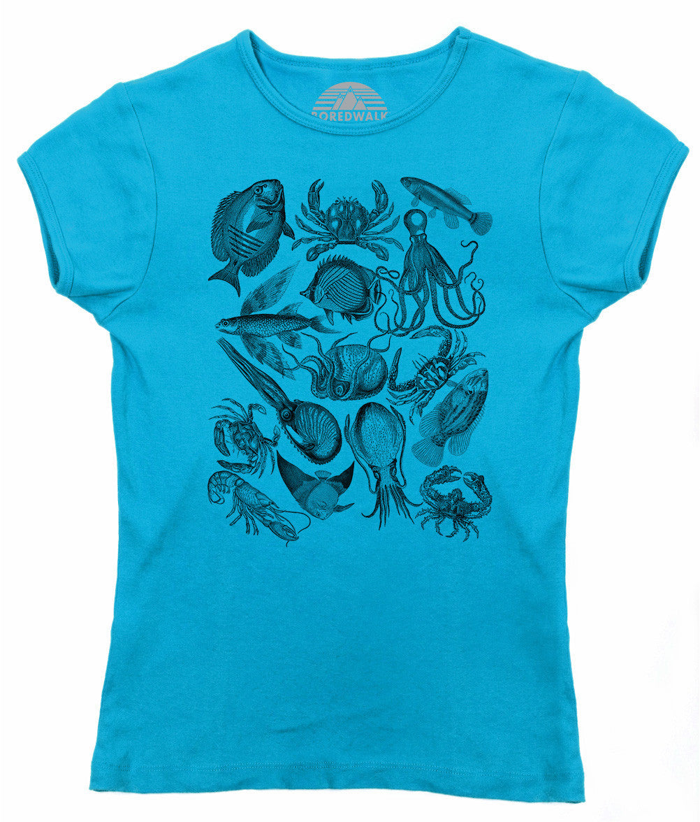 Women's Sea Life Nautical T-Shirt