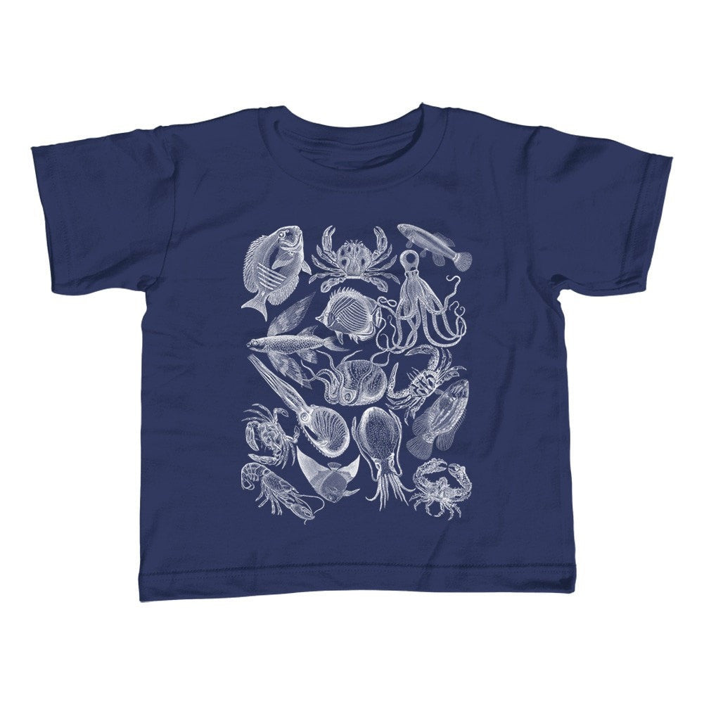 Girl's Sea Life Nautical T-Shirt - Unisex Fit