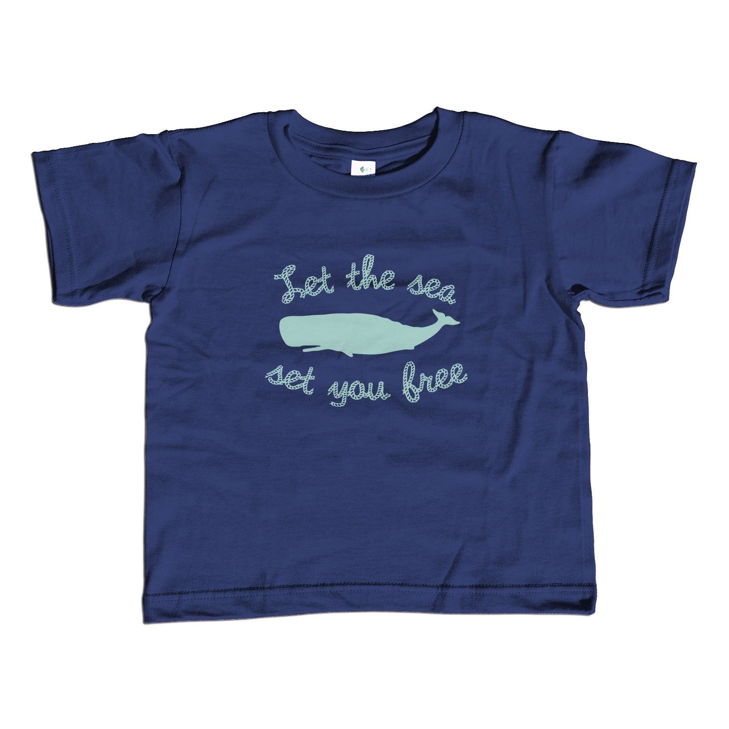 Girl's Let the Sea Set You Free T-Shirt - Unisex Fit Whale