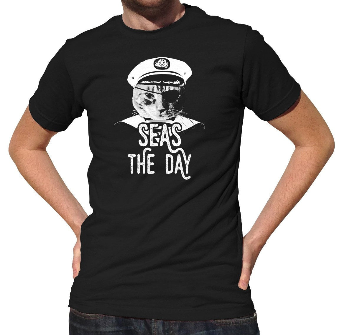 Men's Seas the Day Cat T-Shirt