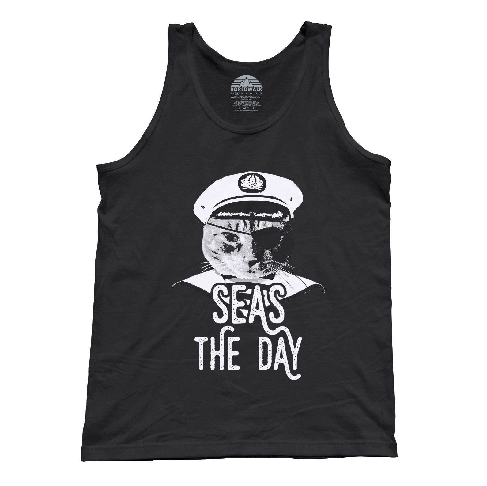 Unisex Seas the Day Cat Tank Top