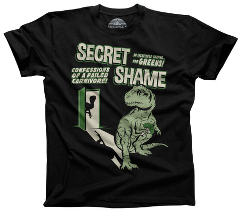 secret shame vegan dinosaur shirt