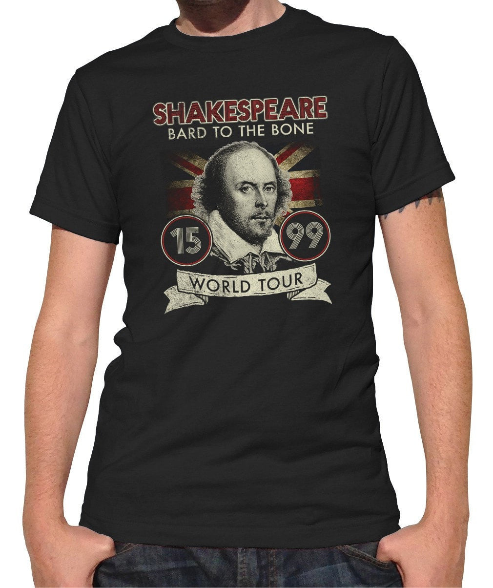 Men's William Shakespeare Bard to the Bone Tour T-Shirt