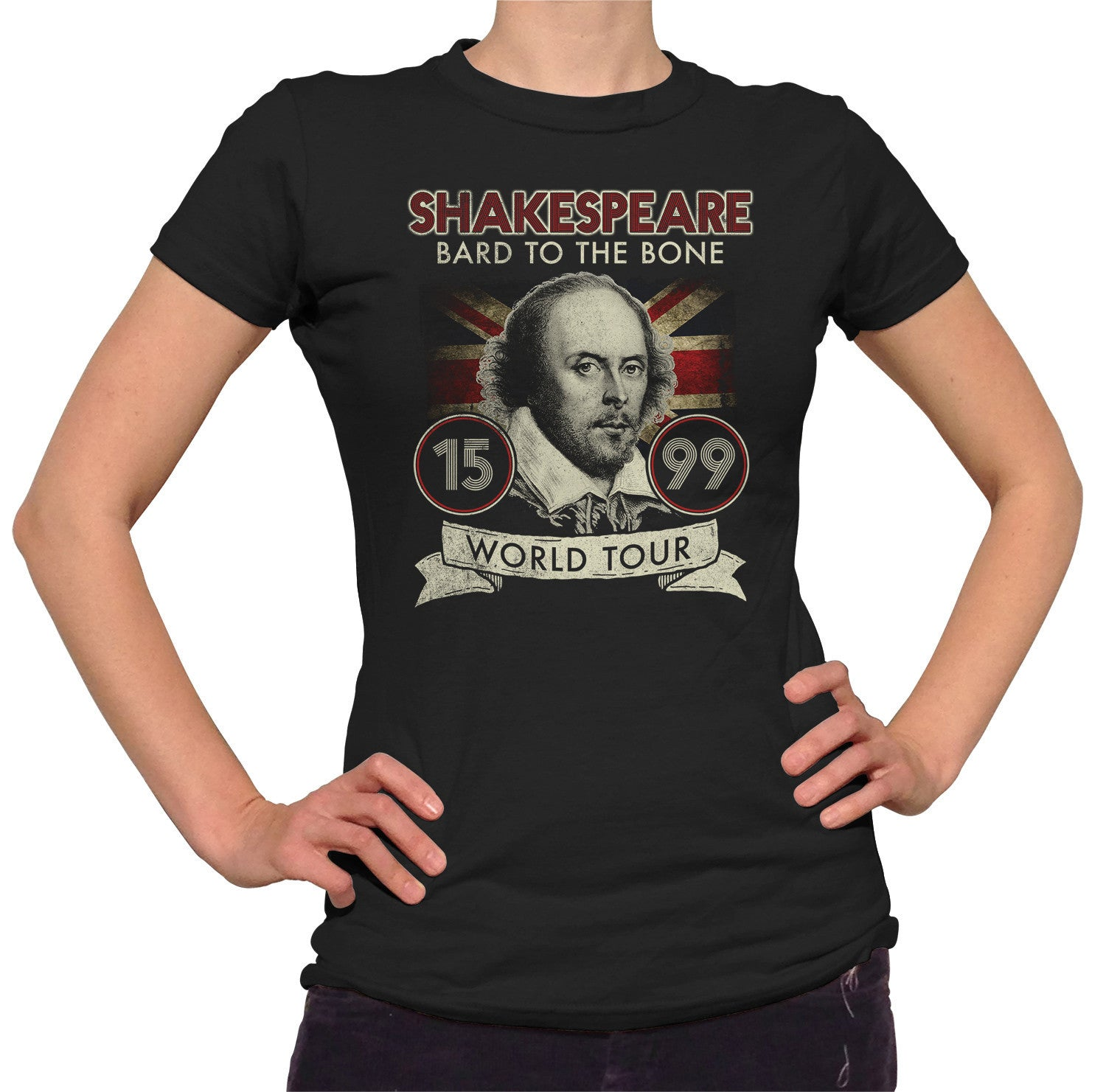 Women's William Shakespeare Bard to the Bone Tour T-Shirt