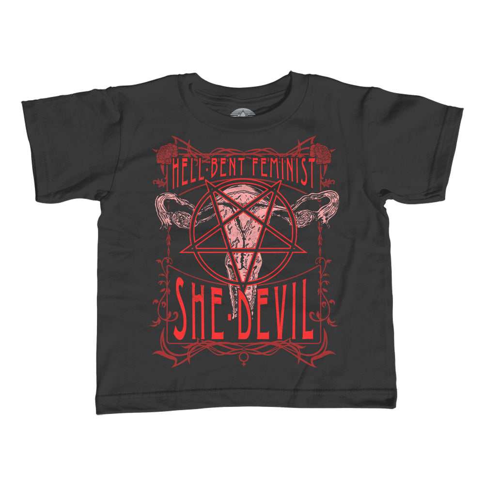 Boy's Hell-Bent Feminist She-Devil T-Shirt