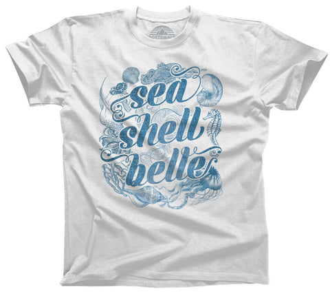 Women's Sea Shell Belle T-Shirt Boho Chic Nautical Beach Mermaid - Relaxed Unisex Fit