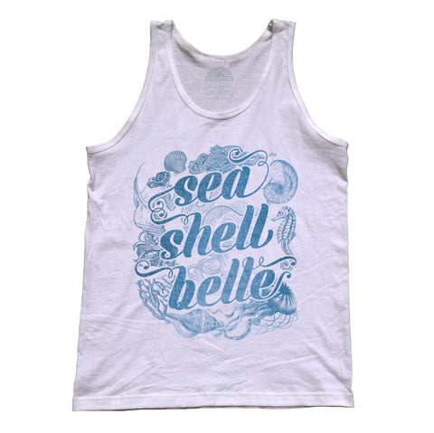 Unisex Sea Shell Belle Tank Top - Boho Chic Nautical Beach Mermaid
