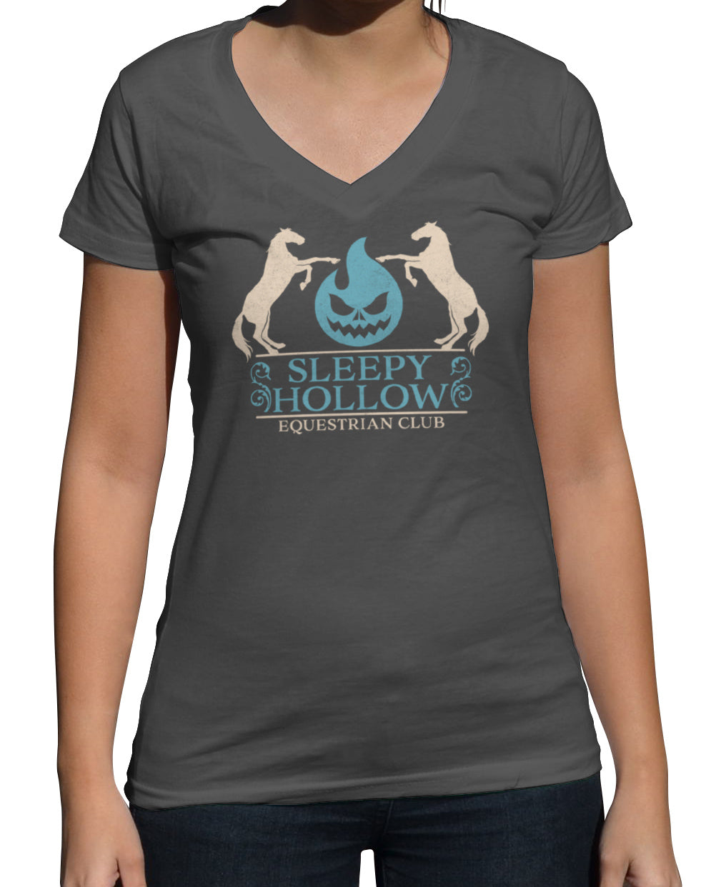 Women's Sleepy Hollow Equestrian Club Vneck T-Shirt