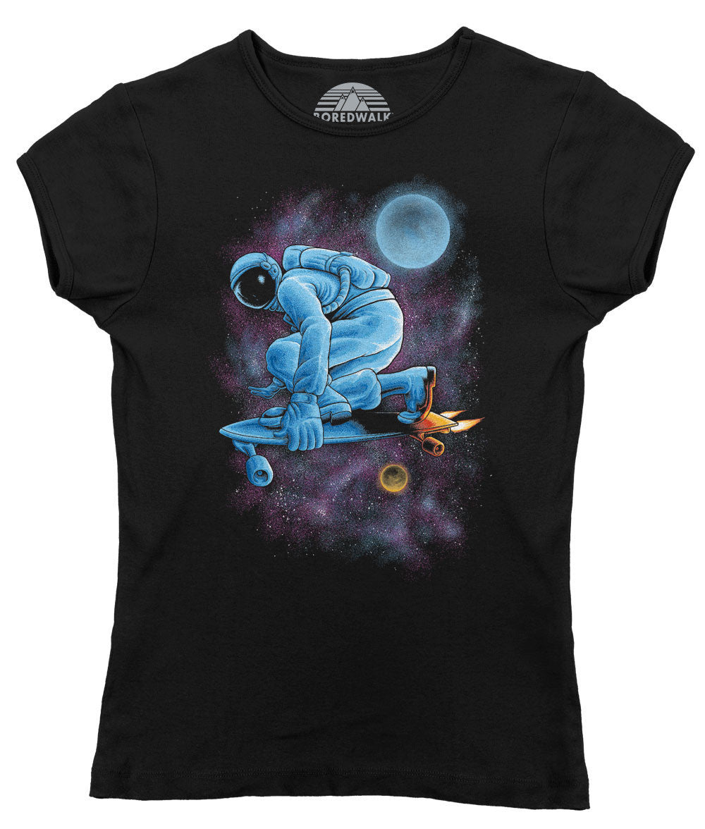 Women's Space Skateboarder T-Shirt