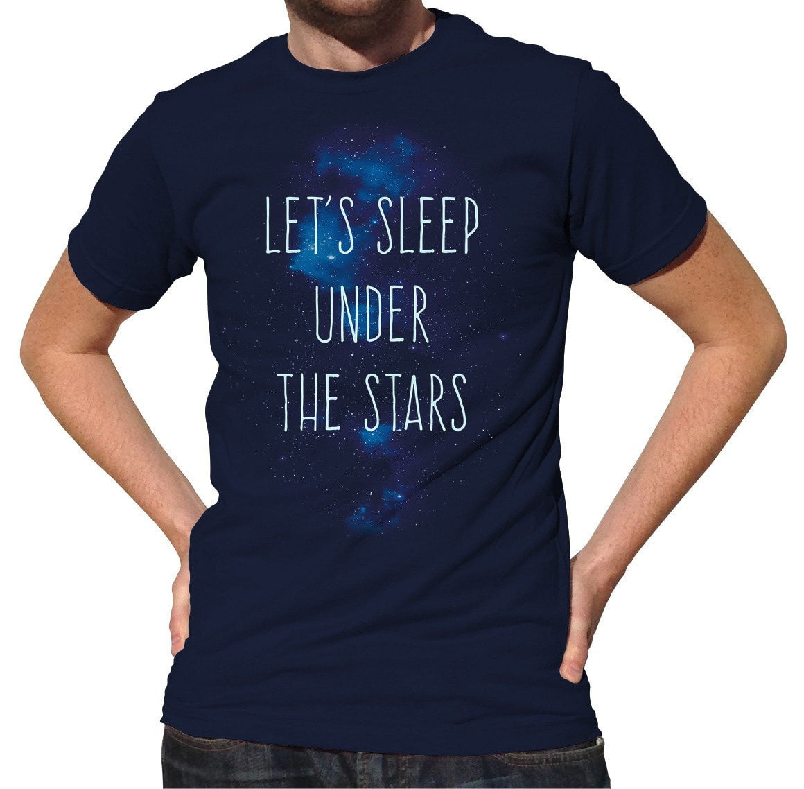Men's Let's Sleep Under the Stars T-Shirt Camping Stargazing