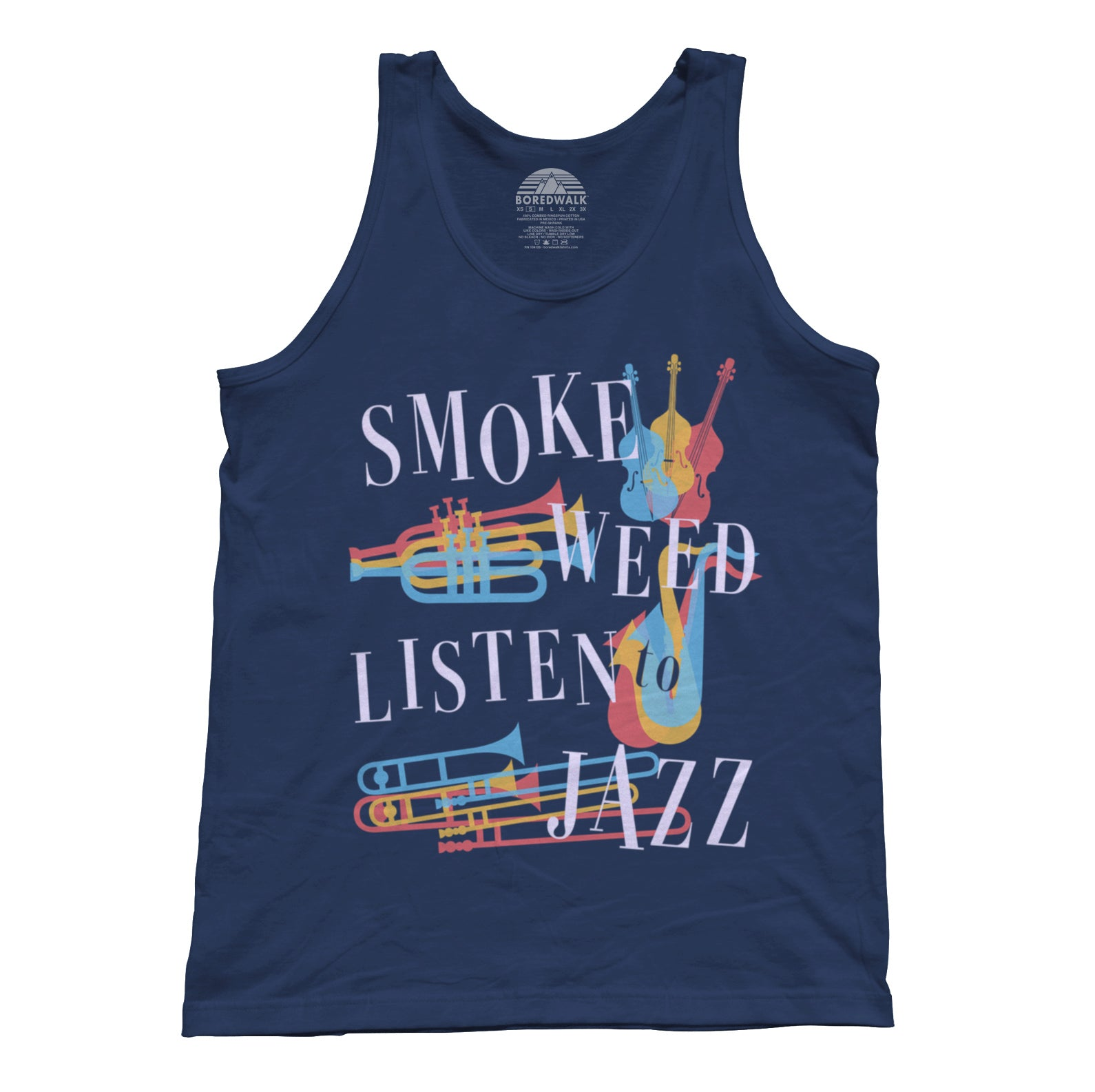 Unisex Smoke Weed Listen to Jazz Tank Top
