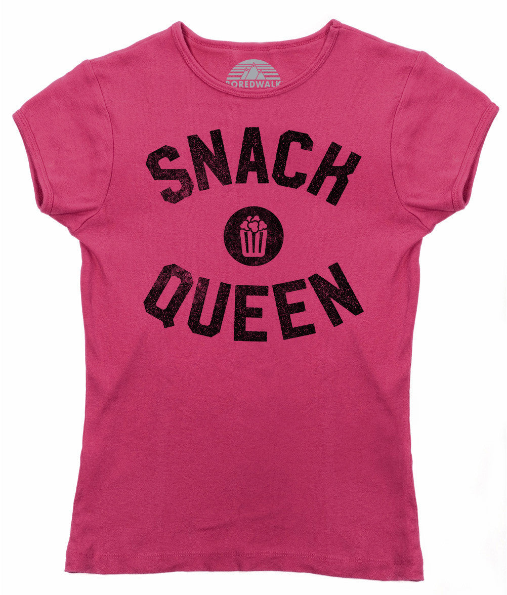 Women's Snack Queen T-Shirt - Hungry Foodie Snacks