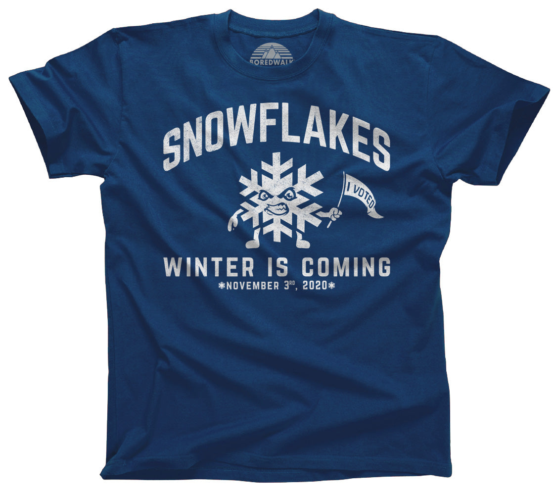 Men's Winter is Coming Snowflake T-Shirt Liberal Resist Shirt