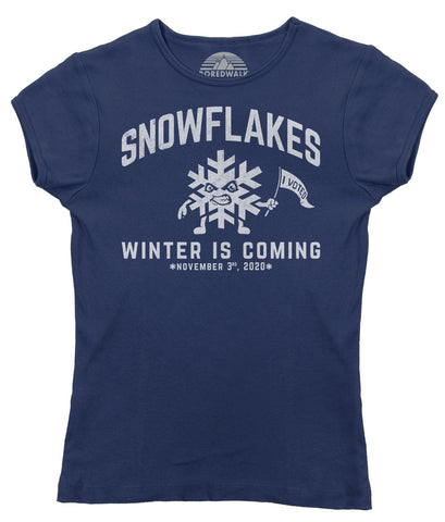 Women's Winter is Coming Snowflake T-Shirt - Liberal Resist Shirt