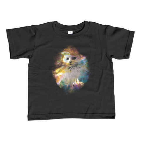 Boy's Cat in Space T-Shirt Astronomy