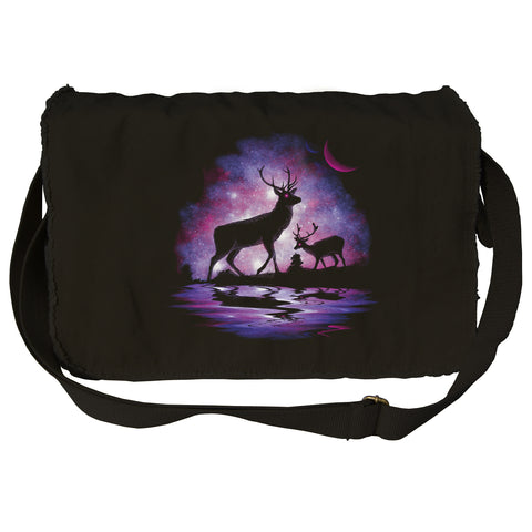 Stargazing Deer Messenger Bag