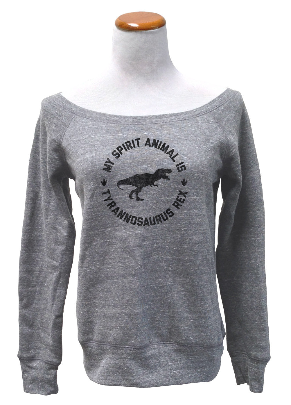 Women's My Spirit Animal is T-Rex Scoop Neck Fleece