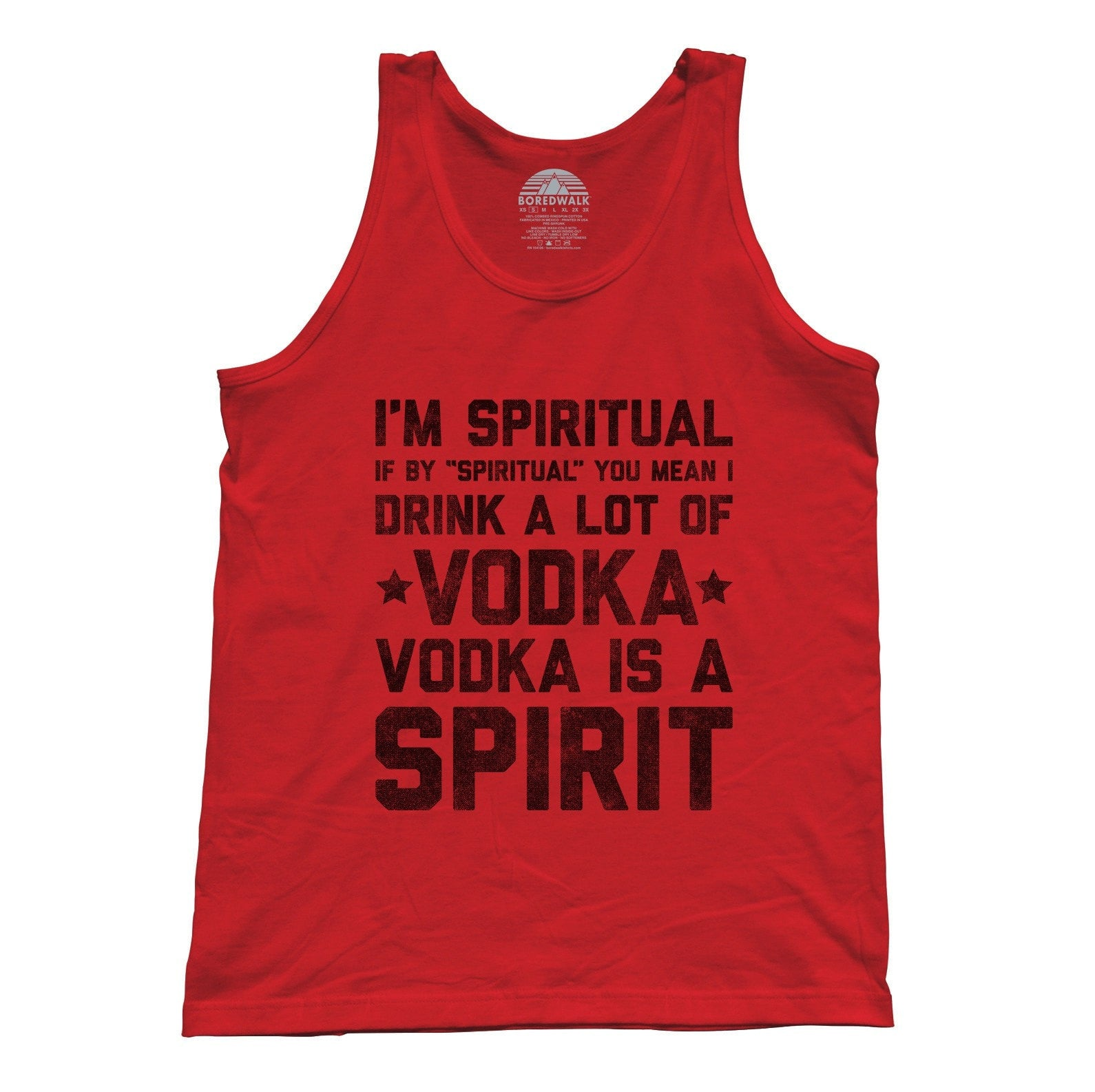 Unisex I'm Spiritual I Drink Vodka Tank Top
