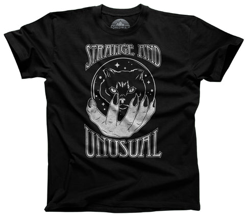 Men's Strange and Unusual T-Shirt - Occult shirt - Pastel Goth Shirt - Black Cat Shirt