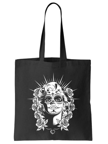 Sugar Skull Pin Up Tote Bag - By Ex-Boyfriend